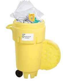 Spilltech SPKO-50-WD Oil Only 50 Gallon Wheeled Over Pack Salvage Drum Spill Kit UAE KSA