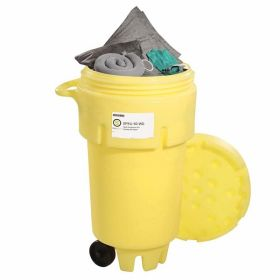 SpillTech SPKU-50-WD Universal 50-Gallon Wheeled OverPack Salvage Drum Spill Kit UAE KSA
