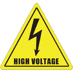 Yellow High Voltage Floor Sign UAE