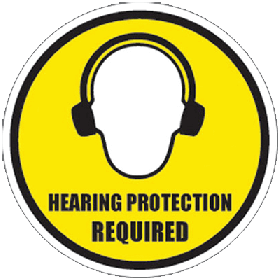 Hearing Protection Floor Sign UAE