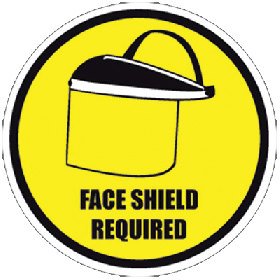 Face Shield Required Floor Sign UAE