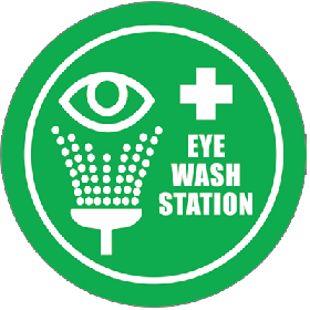 Shower/Eye Wash Floor Sign UAE