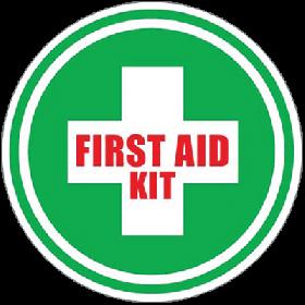 First Aid Kit Floor Sign UAE