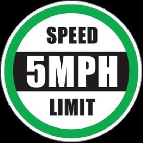 Speed 5 MPH Floor Sign UAE