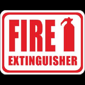 Fire Extinguisher Floor Sign UAE