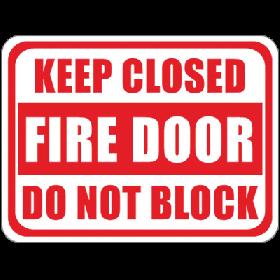 Fire Door/Closed Floor Sign UAE