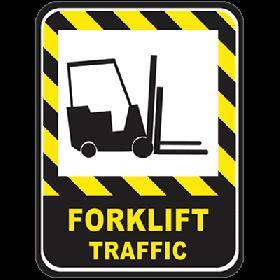 Forklift Traffic Floor Sign UAE