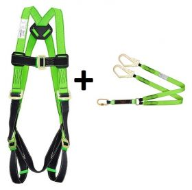 Karam PN 361+PN 21 Forked Lanyards with Energy Absorber and Rhino Harnesses UAE KSA