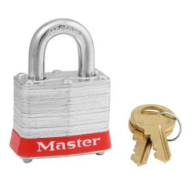 3RED Red Laminated Steel Safety Padlock UAE