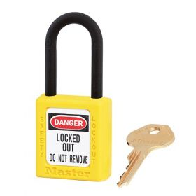 406YLW Yellow Dielectric Zenex Thermoplastic Padlock UAE