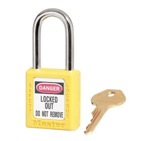 410YLW Yellow Zenex Thermoplastic Padlock UAE