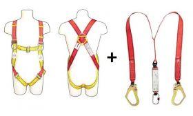 Vaultex OPB Full Body Harness With Twin Webbing Lanyard And Shock Absorber UAE KSA