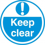 Keep Clear FLS18 450mm Floor Markers & Safety Signs UAE