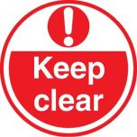 Keep Clear ( Red) FLS17 450mm Floor Markers & Safety Signs UAE