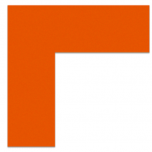 "FLEX Floor Marking Corners 6"" x 6"" Orange UAE"