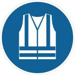 Safety Vest Must Be Worn M015 430mm Floor Markers & Safety Signs UAE