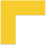 "FLEX Floor Marking Corners 6"" x 6"" Yellow UAE"